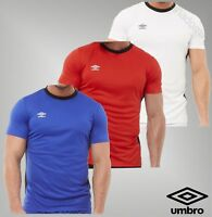 Mens Umbro Sport Short Sleeve Top Mesh Poly Football T Shirt Sizes from S to XL