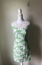 Lilly Pulitzer Dress Just Add Mint Julep Women's Size 4 Green White Sleeveless