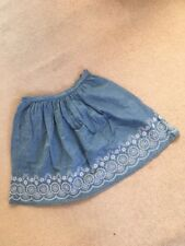 Jack Wills Skirt Size 8 Pale Blue Embroidery Floral Cotton