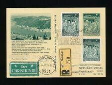 Reco-Christkindl-Bildpostkarte Bodensdorf 24 12.1968 + LZ Bodensdorf, (CH16)