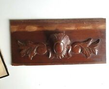 Victorian wood carving pediment Antique French panel trim Architectural salvage