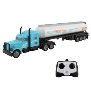 "RC Toy Semi Truck Trailer 18"" Remote Control Rechargeable Battery Included TM-52"
