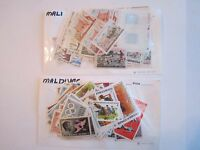LARGE LOT OF MINT STAMPS - GRENADA, HUNGARY, MALDIVES - AND MORE - BOX OFC-2