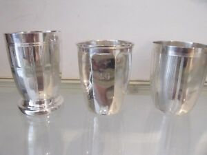1925 french 950 silver minerve 3 beakers art deco st 247g 8,71oz