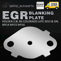 EGR Blanking Plate For Holden RG Colorado MY14 MY15 MY16 2.8L Turbo Diesel 2013+