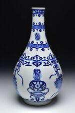 18th Century Chinese Blue & White Kangxi Period Porcelain Vase