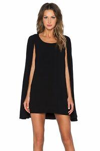 LAVISH ALICE Black Wrap Detail Split Sleeve Bodycon Mini Jacket Dress Size 6