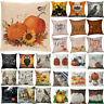 Halloween Pillows Cover Fall Decor Pillow Case Sofa Waist Throw Cushion Cover Fw
