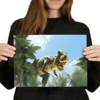 PHOTO PRINT ORIGINAL ART GIFT HOPE POSTER TYRANNOSAURUS REX T-REX DINOSAUR