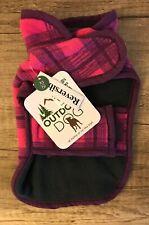 Outdoor Dog Pet Dog FLEECE COAT Jacket Pink Plaid Extra Small Reversible NEW NWT