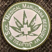 "Jiujitsu Gi Marijuana Green Patch for BJJ MMA Taekwondo Karate Judo 6"""