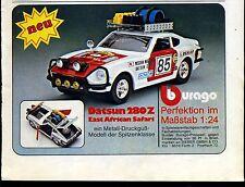 Burago-- Datsun 280Z East African Safari - 1:24--Werbung von 1977--