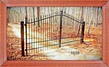 Driveway Gate 12' Wd #1635 Steel, Inc Post Package Yard Garden Fencing Security