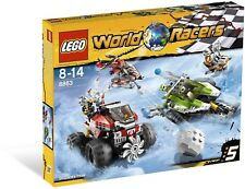 Lego World Racers BNIB 8863 Blizzard's Peak racing set helicopter scooter car