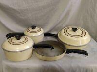 Vintage Club Cast Aluminum 8 Piece Cookware Set- Pots, Pans USED