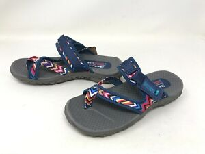 Womens Skechers (48228) Reggae Zig Swag Navy Sandals (419K)