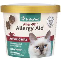 NaturVet Allergy Aid Immune Skin Plus Antioxidants for Cats 60 Soft Chews
