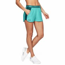 Under Armour Womens Blue Performance Colorblocked Shorts Athletic L BHFO 4509