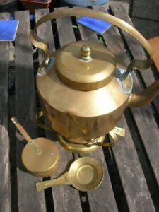 SALE Vintage BRASS SPIRIT KETTLE Watertight Fireplace Camping Glamping Useable