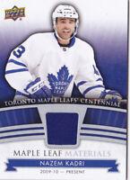 2017 Toronto Maple Leafs Centennial Nazem Kadri Jersey Leaf Materials 17-18
