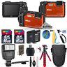 Nikon COOLPIX W300 Waterproof Camera + Extra Battery + Flash & More - 32GB Kit