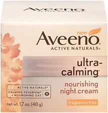 Aveeno Ultra-Calming Nourishing Night Cream, F/F, 1.7 oz (4 Pack)