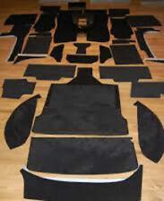 Black velours CARPET KIT FOR TVR M-Serie 3000M 2500M1600M Taimar 1971-1979