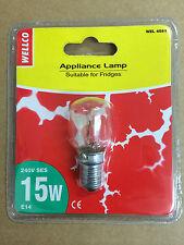 DAEWOO FRIDGE FREEZER LIGHT BULB 4 FOR £7 15W LAMP  4 FOR £7   SES e14