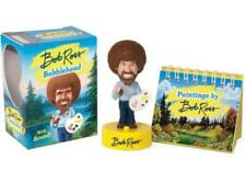 "Miniature Edtions 4"" Bob Ross Bobblehead with Sound! 10 Sayings Includes Book"