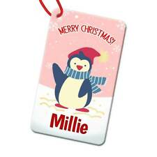 Personalised Any Name Rectangle Christmas Bauble Tree Decoration Gift 186