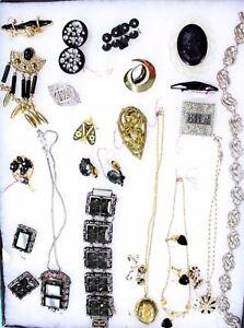 22 PC VTG Jewelry SC Midnight Magic Parure Dane Sterling Case Dealers Estate