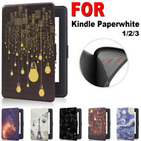 Cover Smart Case Leather Protective Shell For Amazon Kindle Paperwhite 1/2/3