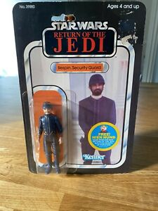Vintage Star Wars Bespin Security Guard White rotj 48 Back  Moc Carded Sealed