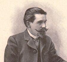 Portrait Docteur Augustin Cabanès Gourdon Lot Histoire de la Médecine