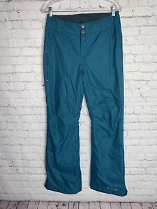 Columbia Women's Omni Tech Waterproof Ski Snowboarding Teal Blue Pants Sz Small