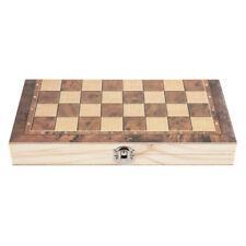 3in1 pieghevole legno gioco da tavolo KIT DI SCACCHI DAMA BACKGAMMON DAMA Nuovo