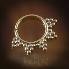Yaxeka Brass Septum Ring for Pierced Nose -1.2mm (16g) Septum Piercing (code 48)