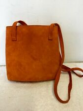 PABLO FUSTER ORANGE SUEDE SHOULDER BAG