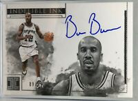 2018-19 Panini Impeccable Indelible Ink #IN-BBN Bruce Bowen Spurs Auto Card /99