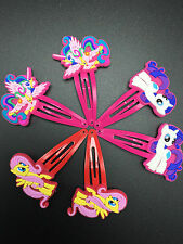 New My Little Pony Hair Clips Accessories 3 pairs  X'mas Gift