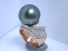 Sehr gute echte Diamanten-Ringe aus Rotgold mit Brillantschliff