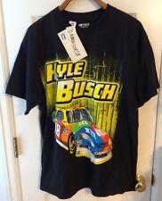 NASCAR MENS TEE SHIRT KYLE BUSCH 18 M&M CAR BLACK NWT SIZE LARGE   A14