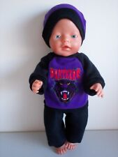 "BABY BORN 17""  DOLLS CLOTHES PENRITH PANTERS CHEERLEADER TRACKSUIT OUTFIT"