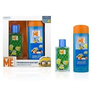 Despicable Me Minions Fragrance Duo Set Bubble Bath & Eau de Toilette New