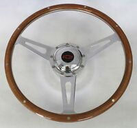 60-69 Chevrolet Pick Up GT 9 hole Retro Steering Wheel Black/Red Bowtie 15""