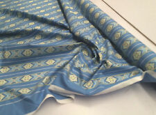 BLUE STRIPED PRINT 100% COTTON FABRIC 115CM WIDE : #IL010 : Selling By 1/2 Metre