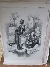 Vintage Print,RISING OF THE DEAD,Harpers,Nast,1874