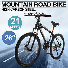 "26""Zoll Fahrrad Mountainbike 21 Gang V-brake Speed MTB Hardtail SHIMANO Stahl"