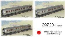"""Aus Märklin 29720 Wagenset """"Silberlinge"""" der DB inkl. Steuerwagen 3-teilig #NEU#"""