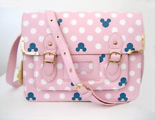 NWT Ladies/Girls Mickey Mouse Polka Dot Novelty Satchel/Shoulder Bag Pink/Blue